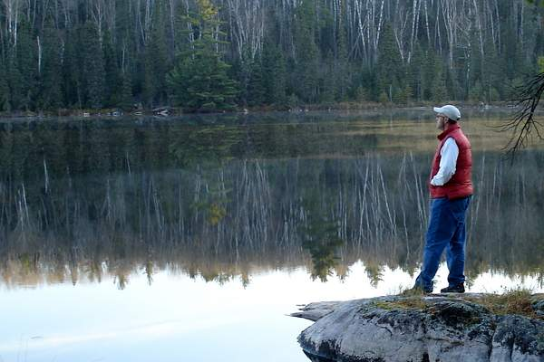 Rich reflecting on the morning calm