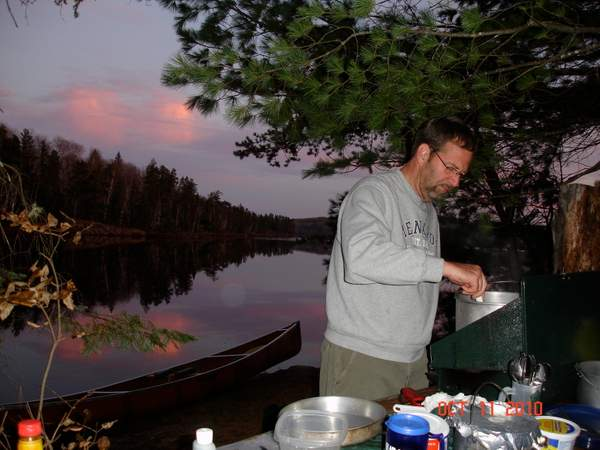 Paul cooking up something good