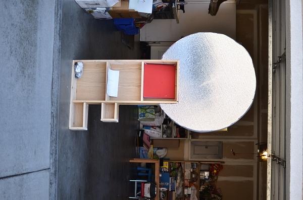 Scrapbook shelf building 1/3/14 by Ihskey2014