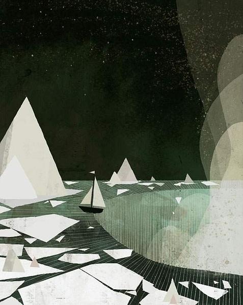 waterfall_print by Ingapetrova
