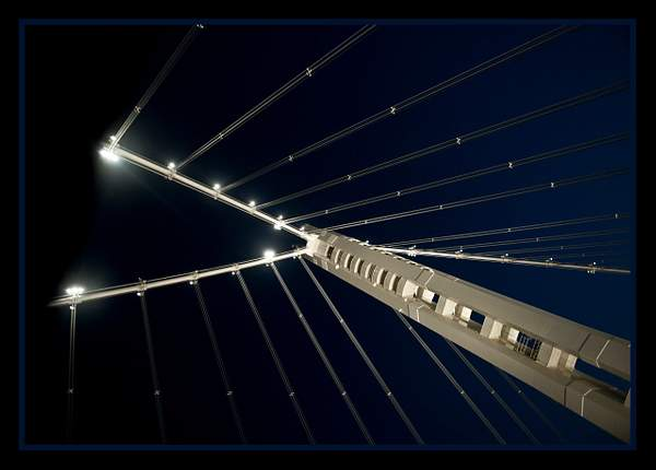 Bay Bridge at night