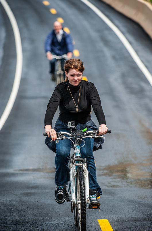 Biking down the hill