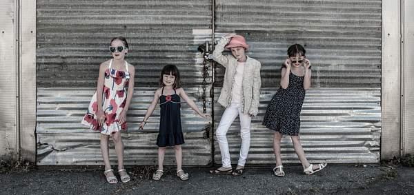 Four sisters posing