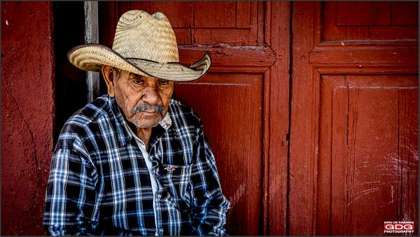 Portrait of  a blind Mexican man