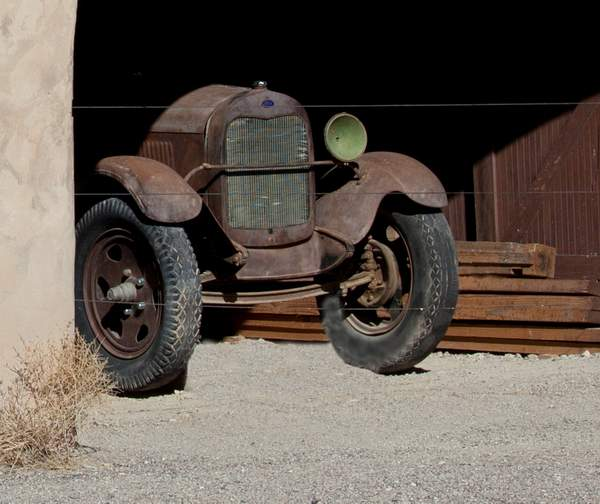 One eyed 29 Model A Dump Truck at Scotty's Castle 222