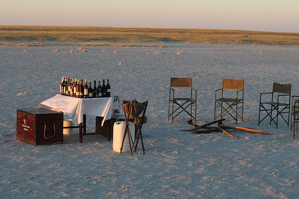 Cocktail Hour in the Makgadikadi by AnneMetzger