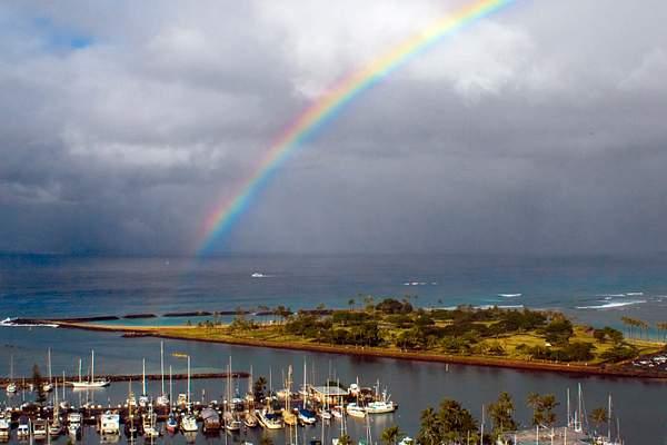 Rainbow Over Magic Island, Honolulu