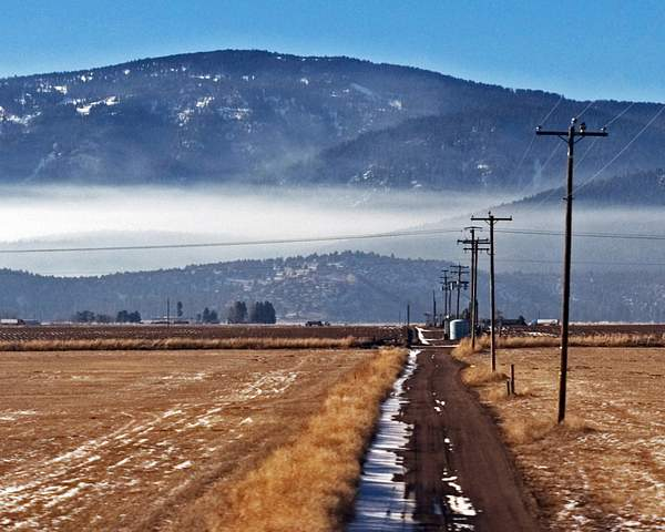 Winter View from a Train Window Outside Klamath Falls, Oregon 222