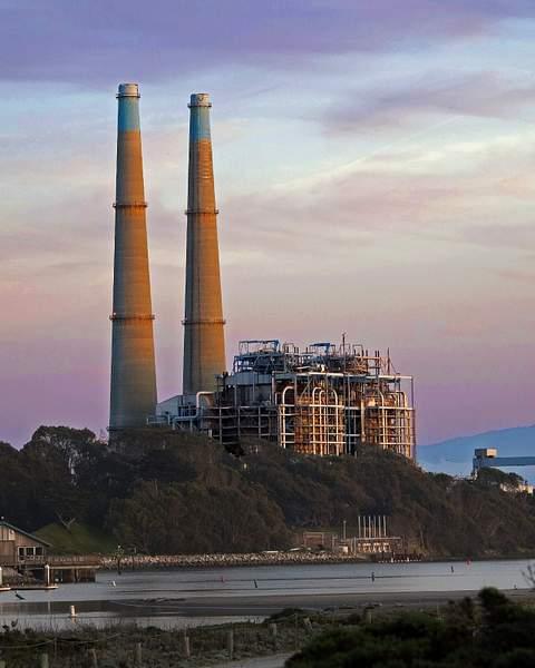 Power Plant at Sunset in Moss Landing, California 222