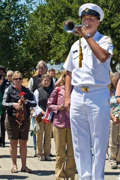 Playing Taps at Dedication of Port Chicago National Historic Site Dedication 222