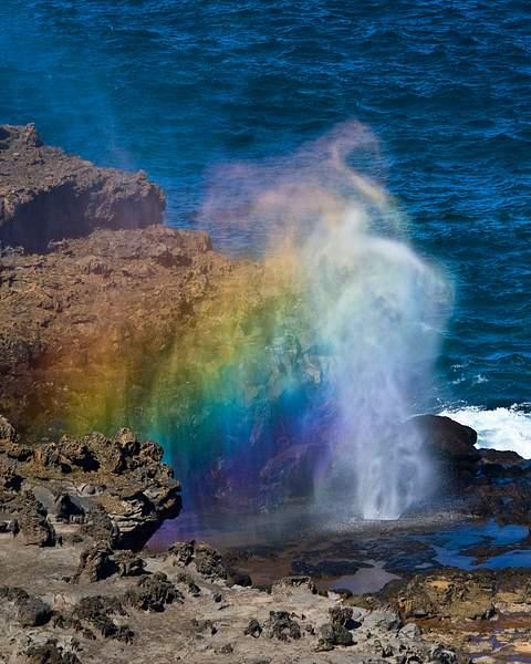 Nakalele Blowhole on the Island of Maui, Hawaii