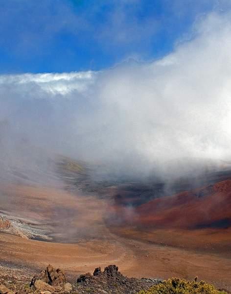 Clouds Atop Haleakala Volcano on Maui, Hawaii 222