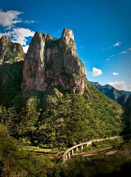 Railway winding through Copper Canyon, Mexico 222