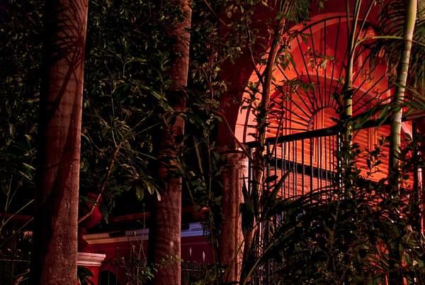 Tropic hacienda night in El Fuerte, Mexico 222