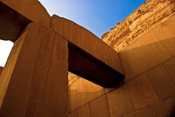Monoliths of the Sphinx's temple, Giza, Egypt