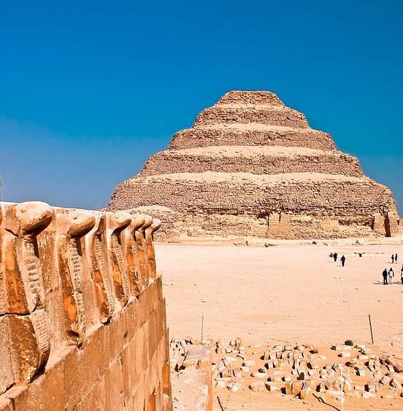 Cobras & pyramid, Saqqara, Egypt 222
