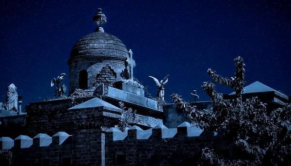 Night Fantasy on Recoleta Cememtery, Buenos Aires, Argentina 222