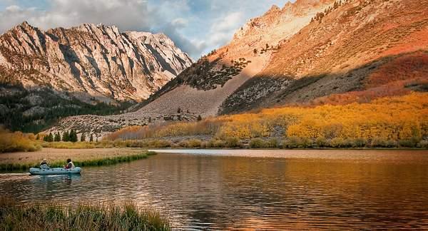 Fishing on North Lake at sunrise