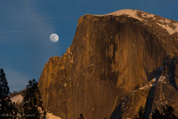 Moonrise over Half Dome 222