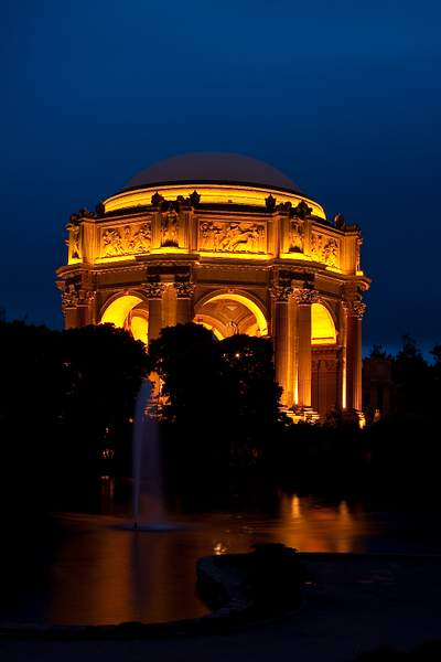 Palace of Fine Arts Rotunda @ Night 222