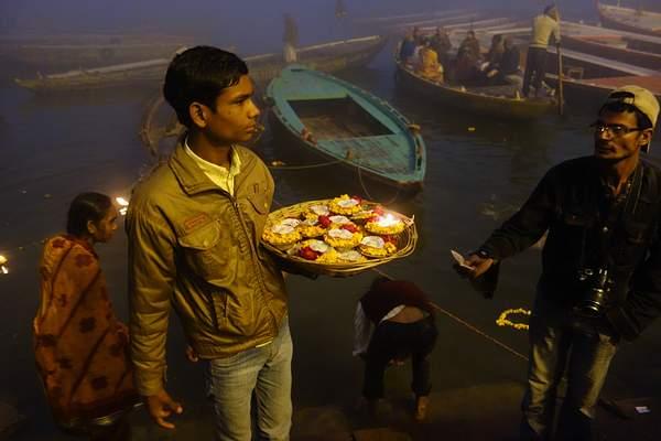 Selling Flowers, Varanasi, India 222