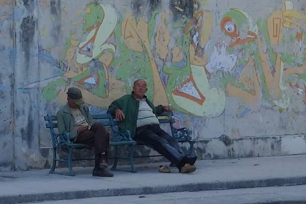 Sidewalk Bench, Havana, Cuba 222