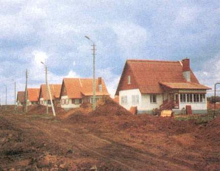 Single family houses in Stepnoje (Volga region), likewise sponsored by the Federal Ministry of the Interior 222