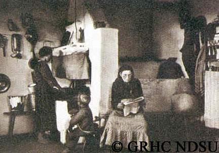Parlor in peasant dwelling - (Kamenka) -Elisabethdorf, Volhynia