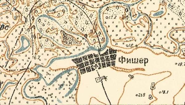 Map showing Fischer (1935).