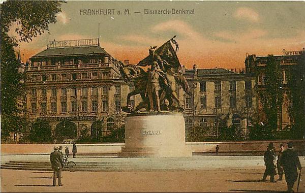 GERMANY-FRANKFURT-BISMARCK DENKMAL-MONUMENT-STATUE 222