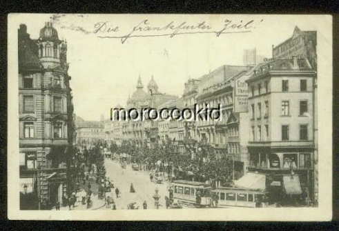 FRANKFURT GERMANY 1912 B&W STREET SCENE 222