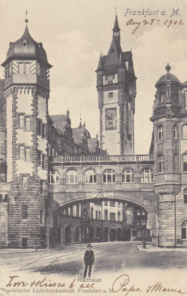 RATHAUS FRANFURT Lichtdruckanstalt 1903 222