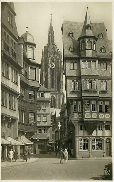 GERMANY-FRANKFURT-CHURCH-DURCHBLICK VOM ROMERBERG AUF DEN DOM 222