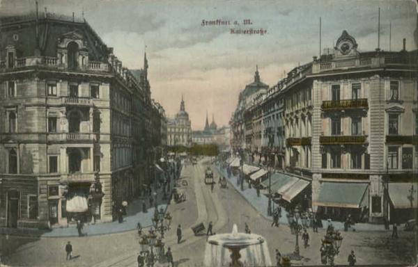 Frankfurt Germany - Nice Street Scene c1910 222