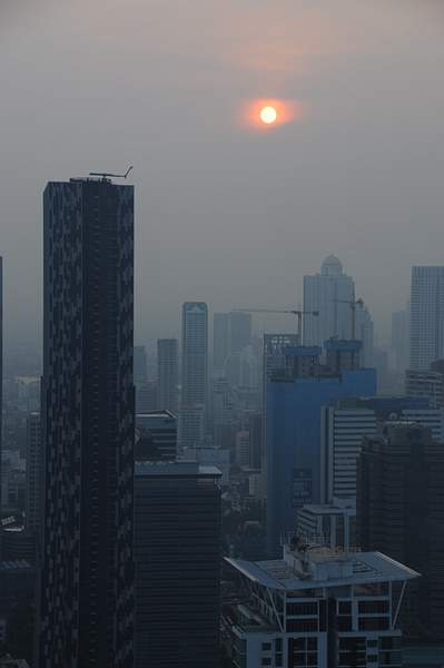 Smoggy Sunset in Bangkok 222