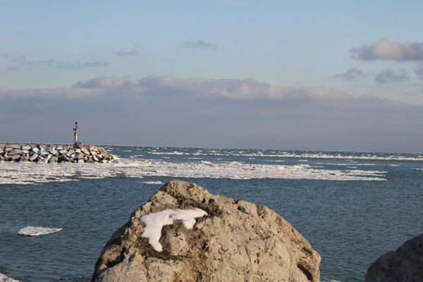 Lake Michigan in February 2012 by JdGalvin