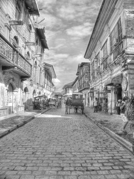 vigan in black and white