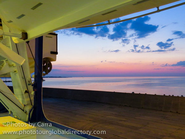 E sunset from the ship by Carra Riley