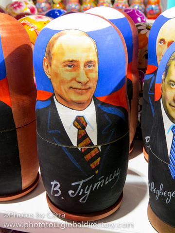 R Putin stacking dolls by Carra Riley