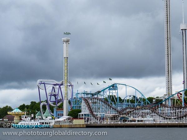 S Stockholm Sweden Amusement Park by Carra Riley