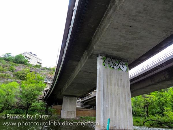 S Stockholm Sweden under bridge by Carra Riley