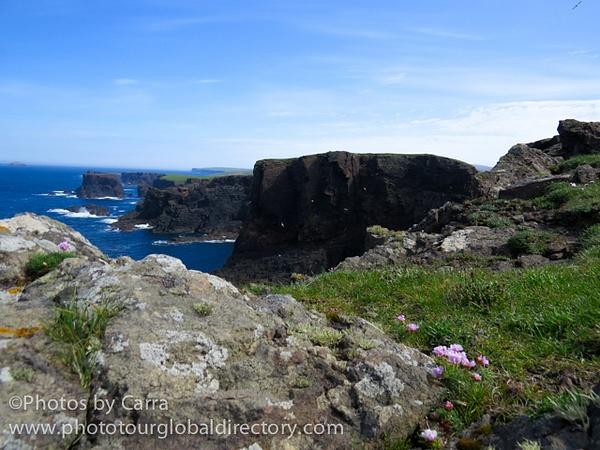 Shetland lighthouse cliffs 5 by Carra Riley