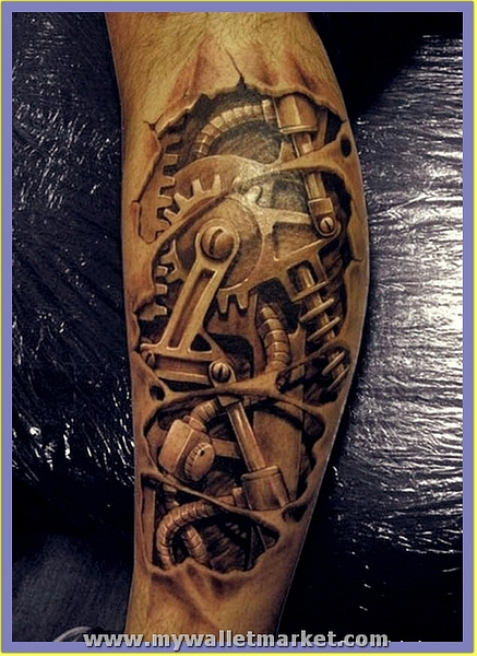 3d-machine-arm-tattoo by catherinebrightman