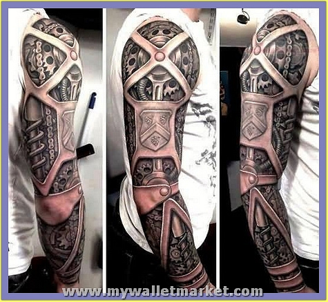 biomechanical-3d-tattoo-on-sleeve by catherinebrightman