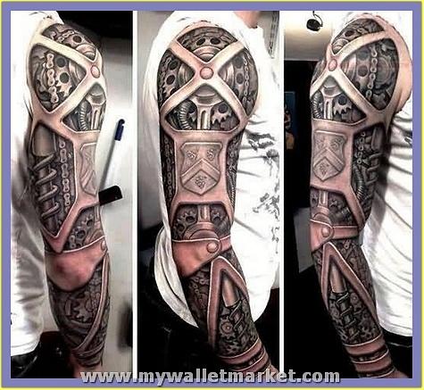 biomechanical-3d-tattoo-on-sleeve