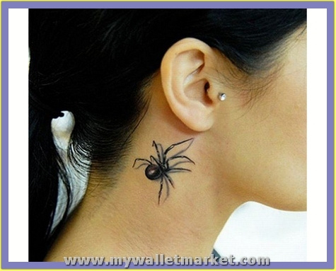 3d-tattoos-spider-on-neck by catherinebrightman
