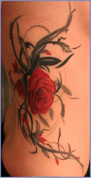 abstract_rose_tattoo by catherinebrightman