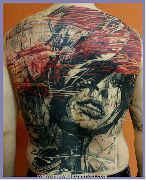 abstract-art-girl-face-tattoo-on-back by catherinebrightman