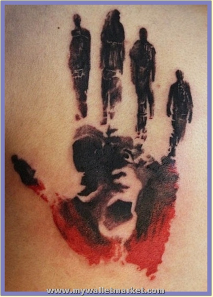 abstract-art-hand-tattoo-on-back by catherinebrightman