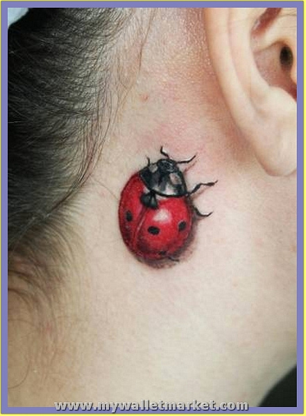 ladybug-3d-tattoo by catherinebrightman